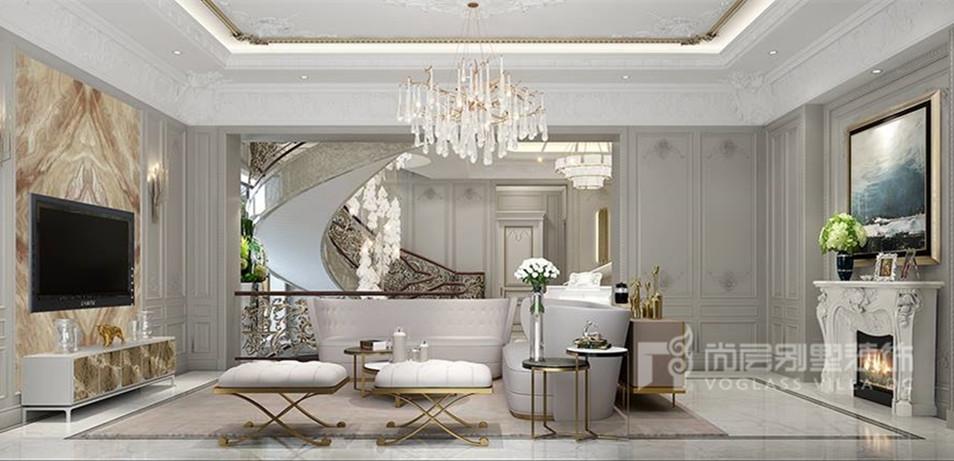 远洋天著美式风格客厅装修效果图
