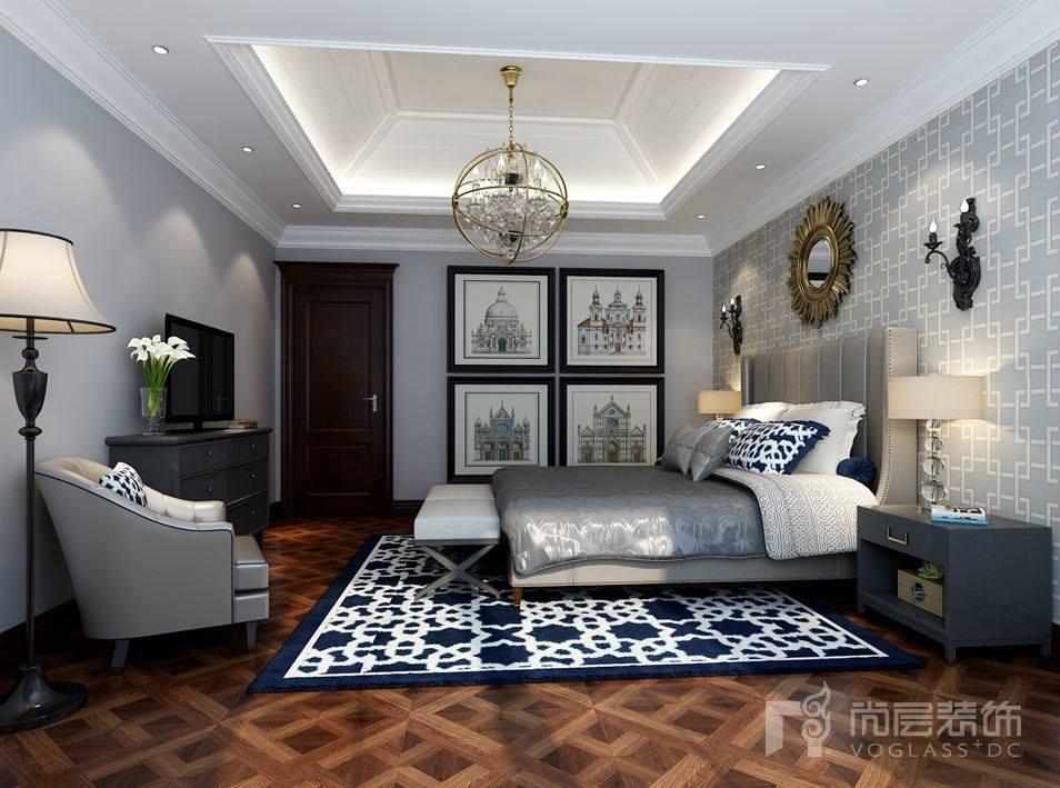 鲁能七号院欧式风格卧室装修效果图_尚层装饰案例