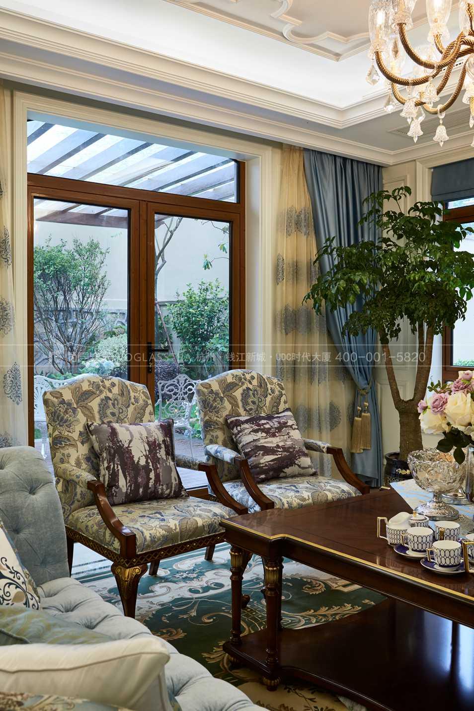 杭州尚层软装-欧式风格客厅实景图