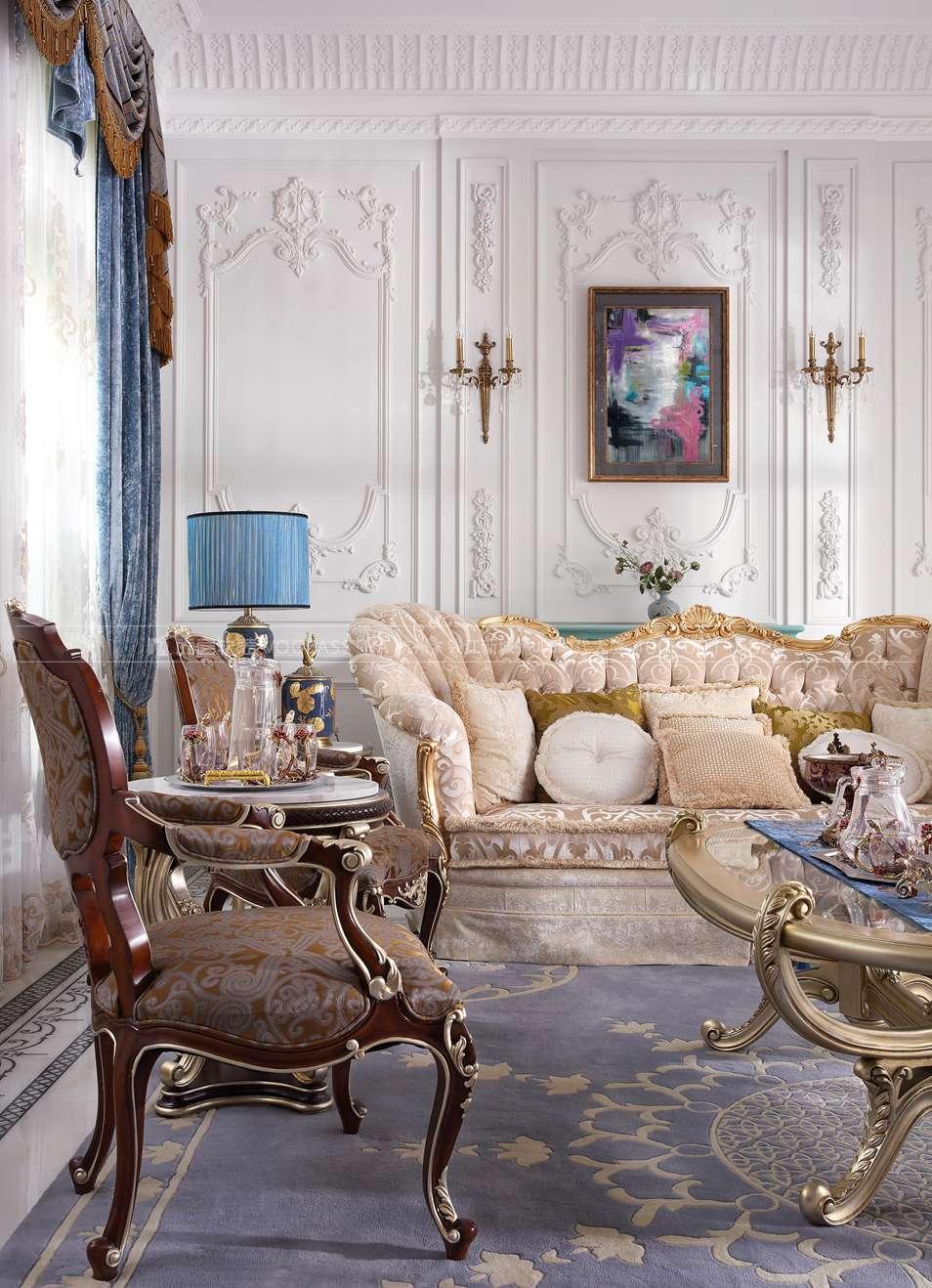 杭州尚层软装-法式客厅软装实景图
