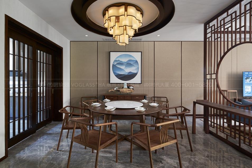 客厅软装实景图-杭州尚层软装