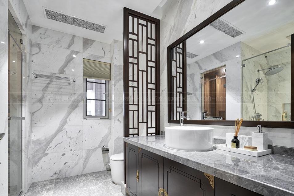 卫浴间软装设计-杭州尚层软装
