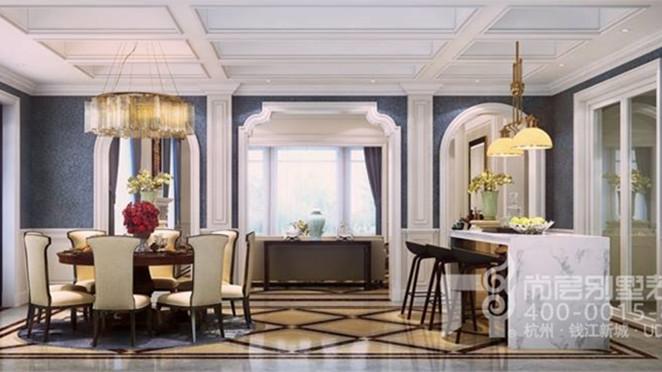 云水山居法式风格餐厅装修效果图
