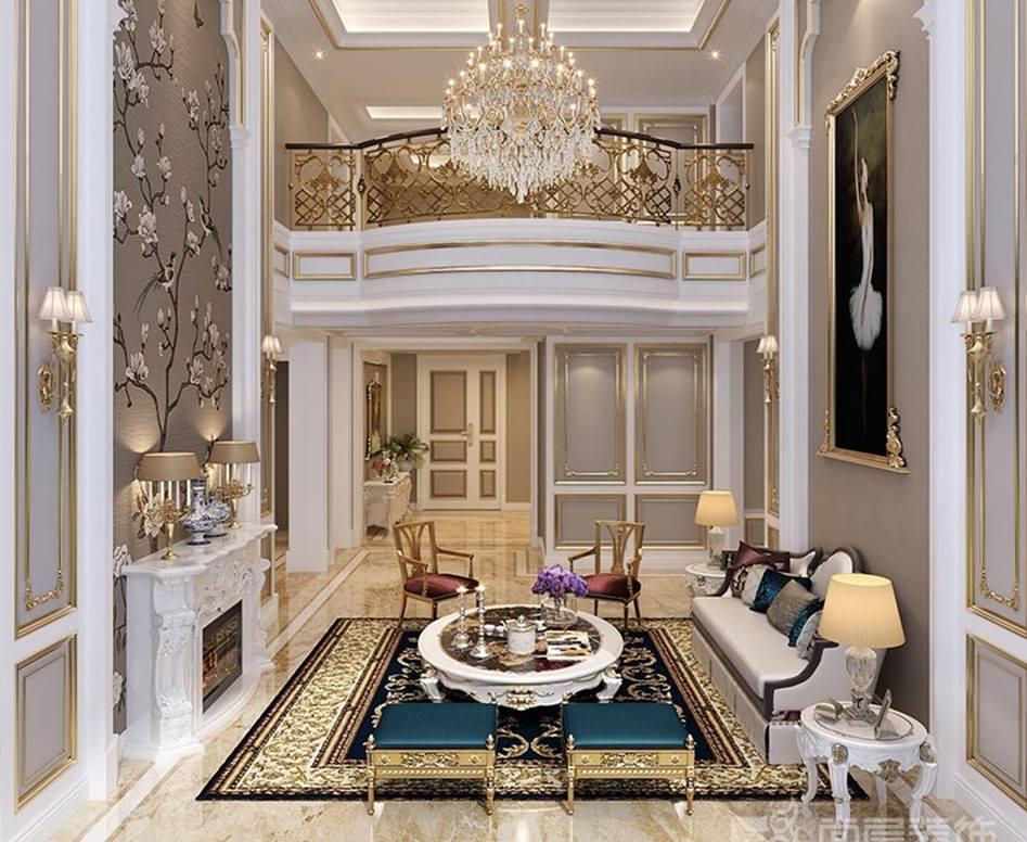 云水山居法式风格客厅装修效果图