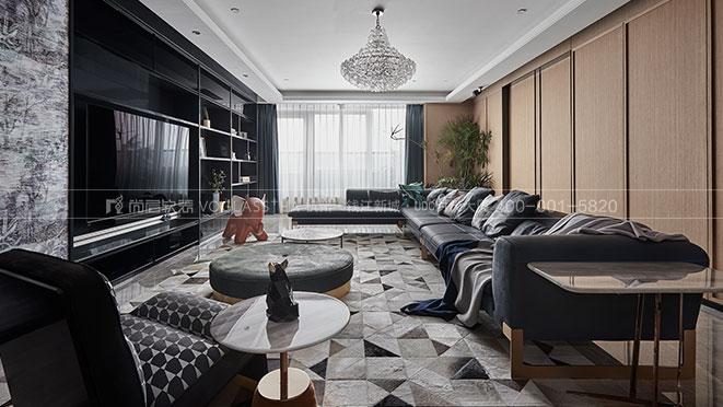 杭州印丨现代轻奢风格实景图案例-杭州尚层软装