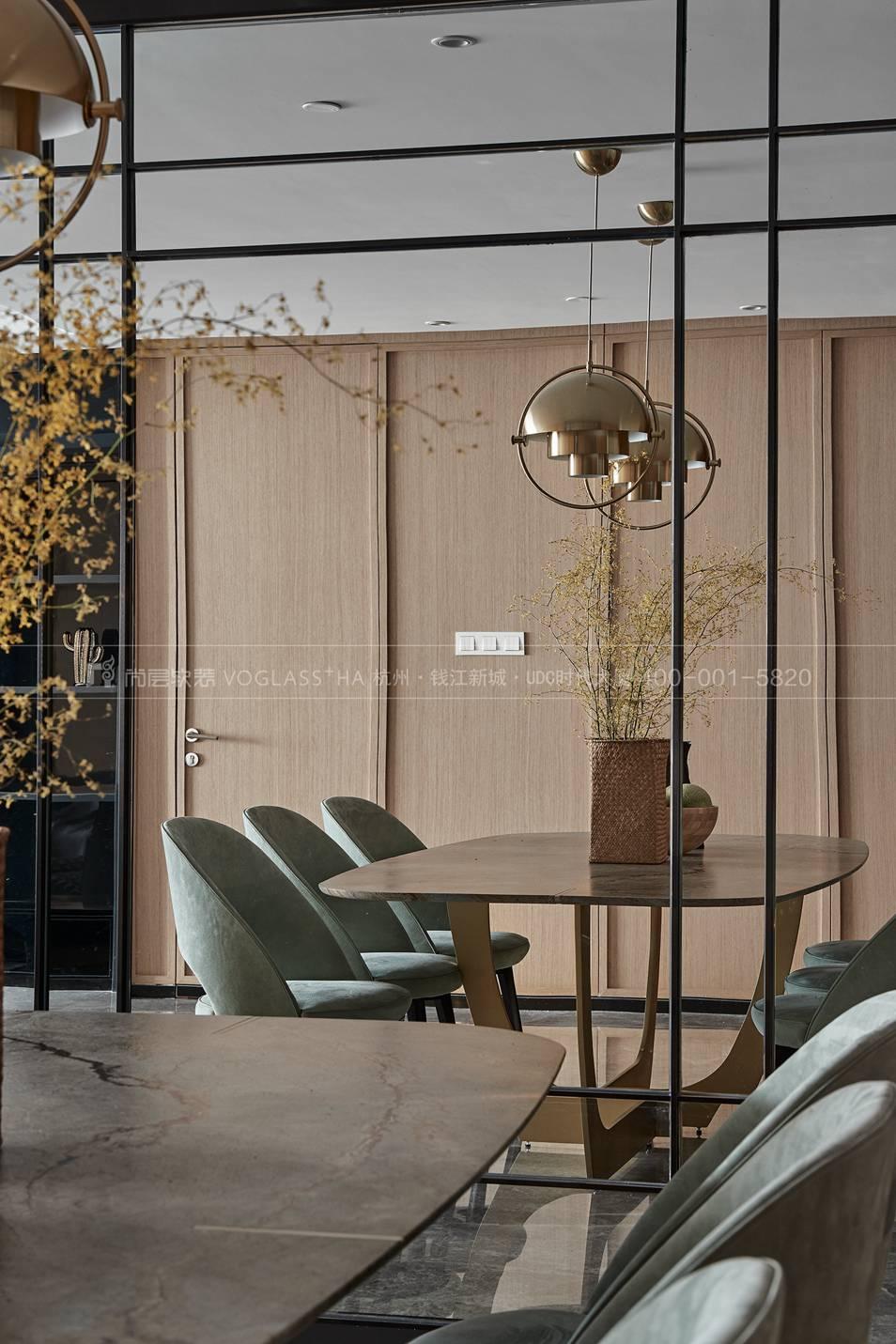 杭州軟裝公司-現代軟裝風格餐廳實景圖-杭州尚層軟裝