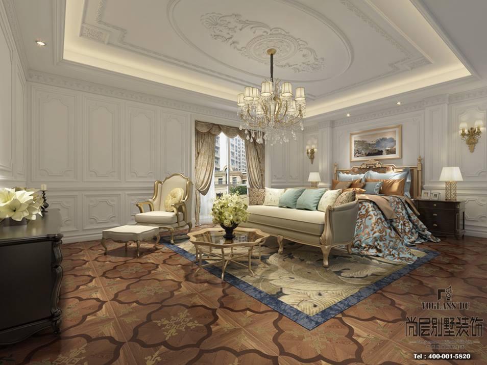 金罗马皇家森林别墅混搭风格卧室装修效果图