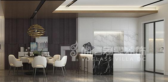 燕西华府现代简约风格餐厅装修效果图