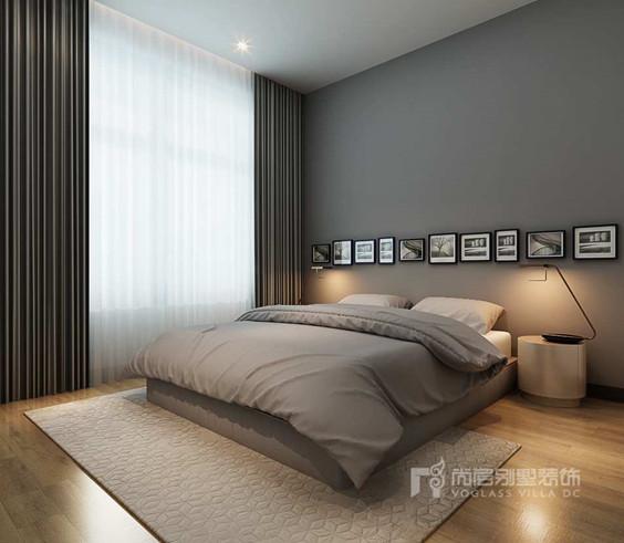集团别墅案例 燕西华府新中式风格卧室       在空间平面设计中追求自