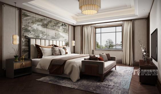 西溪玫瑰园中式风格卧室装修效果图