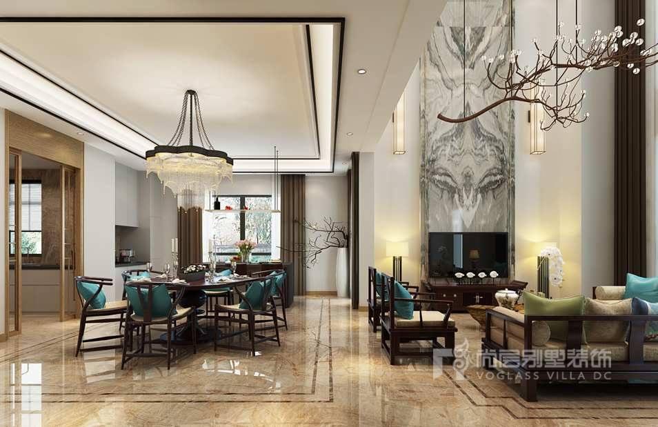 燕西华府新中式风格餐厅装修效果图