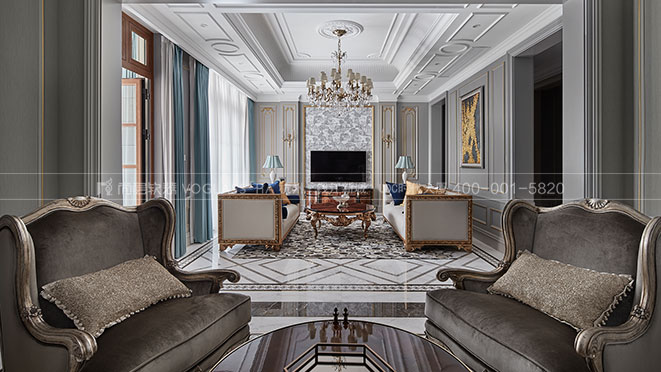 C户型的改造,蓝庭伍重院800方别墅软装设计实景图_杭州尚层装饰