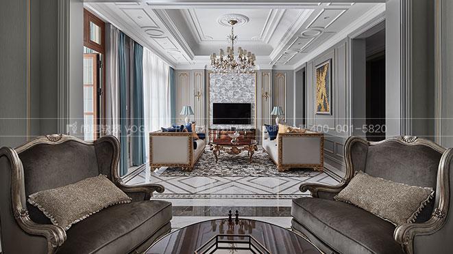 C戶型的改造,藍庭伍重院800方別墅軟裝設計實景圖_杭州尚層裝飾