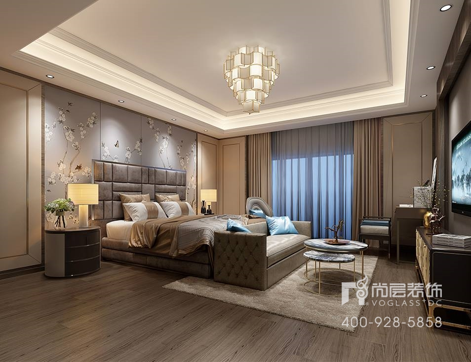 苏州别墅装修||康帝庄园600m642;—轻奢新中式