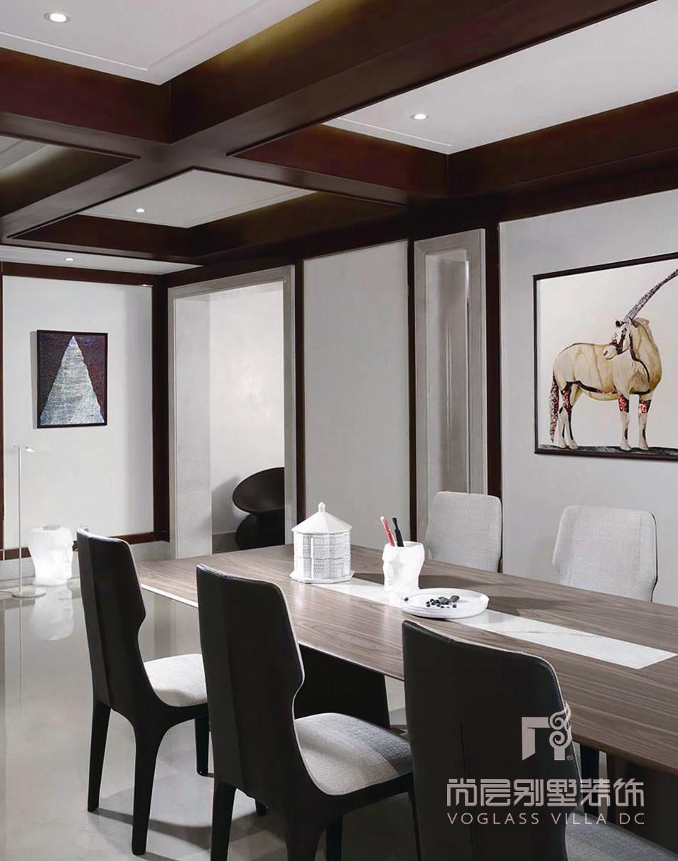 九溪玫瑰园新中式风格茶室装修实景图
