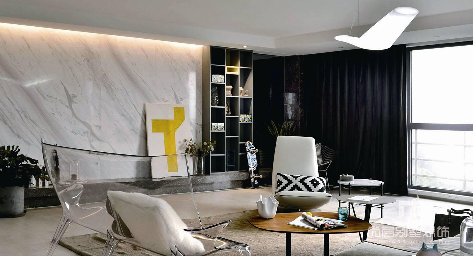 光大水墨现代简约风格家庭室装修实景图