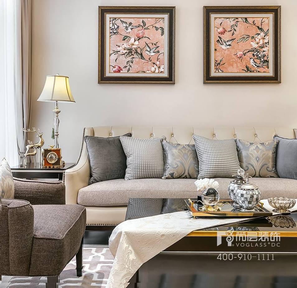 御江山现代美式风格卧室装修实景图