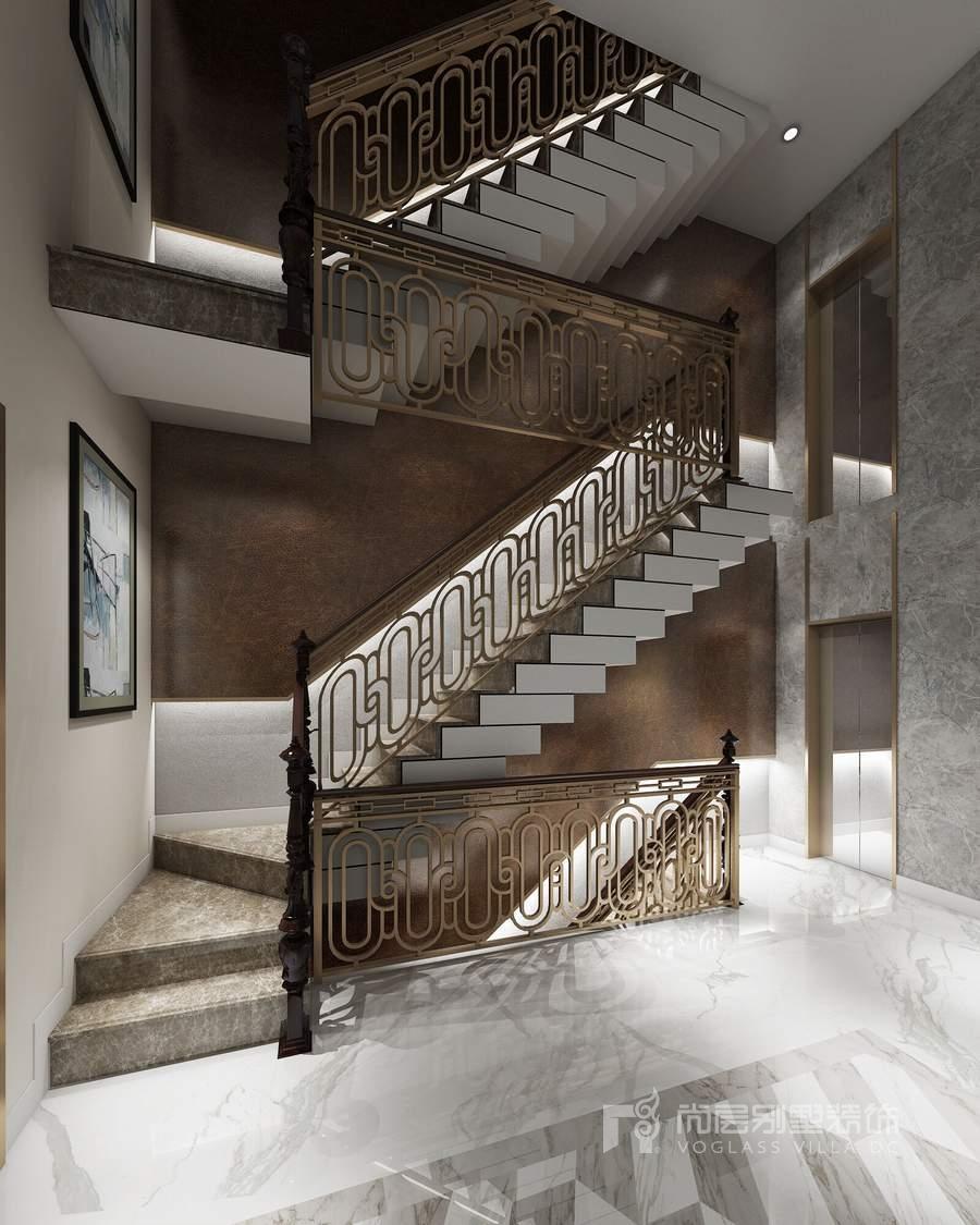 远洋天著现代风格楼梯间装修设计图