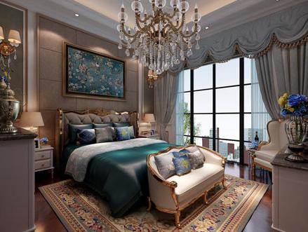 320平欧式独栋别墅装修效果图 大方典雅造型精致