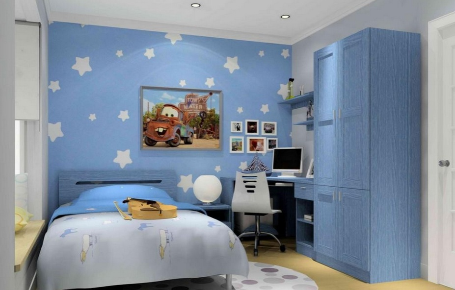 地中海风格儿童房装修效果图 柔和清新极具自然风情