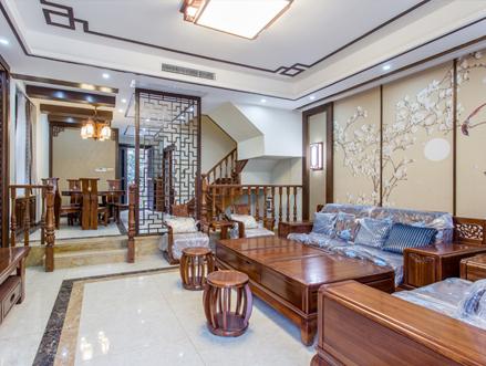 中式古典别墅装修效果图 凸显浓郁中国风
