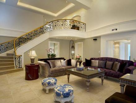 800平别墅装修效果图 兼具丰富层次与美观