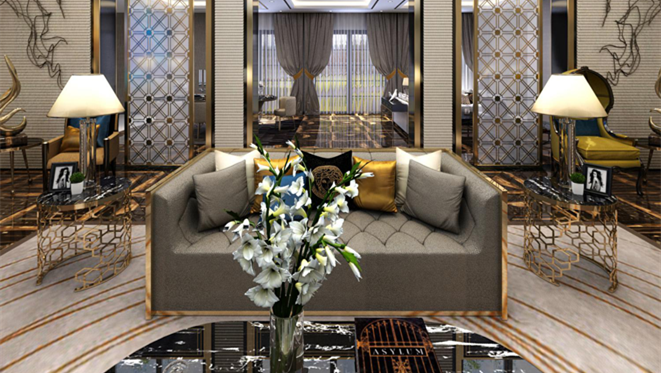云栖玫瑰园500平米新装饰主义风格装修图