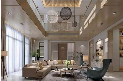 现代美式别墅装修效果图 简洁明快舒适惬意