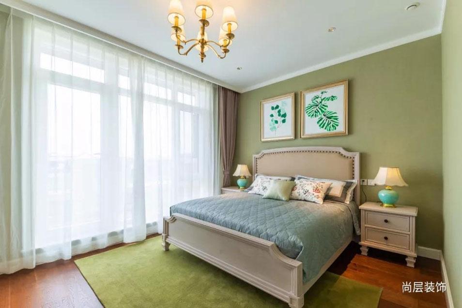 芦花庄园现代美式风格卧室装修实景图