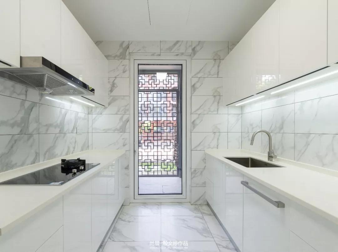 朗润园北欧风格厨房装修实景图