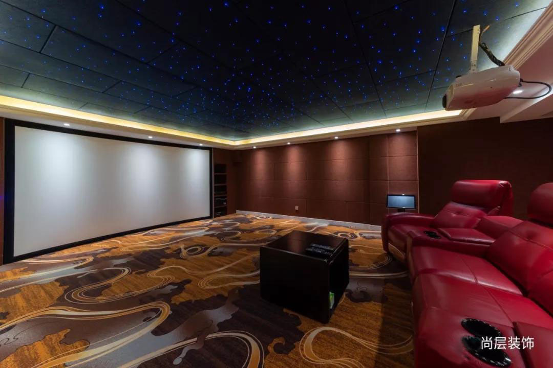 宜和美墅法式混搭风格影音室装修实景图