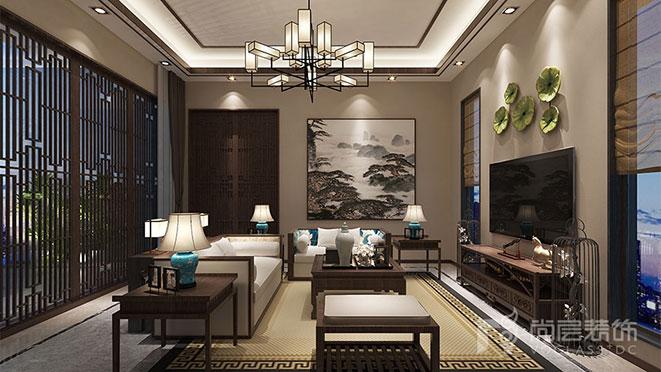 新中式风格别墅案例图
