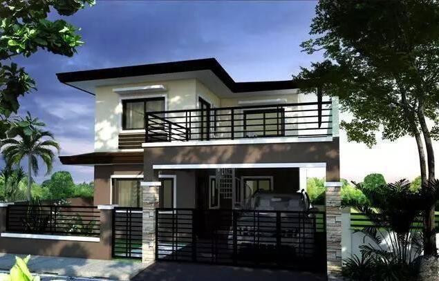 现代风格小户型农村别墅设计图