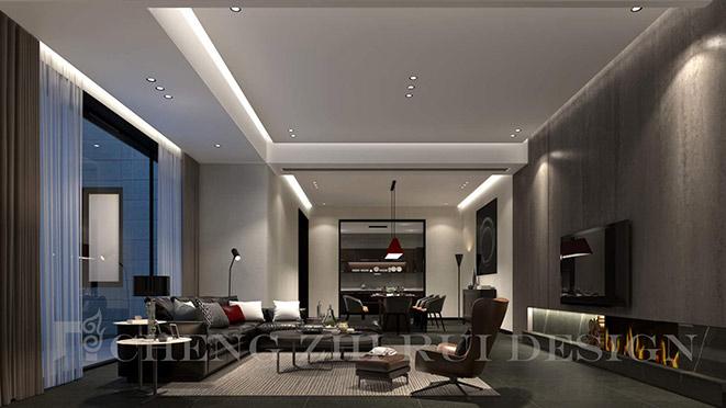 600m²现代简约风格别墅装修设计
