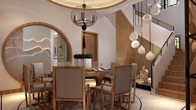 370平米新中式风格别墅装修效果图