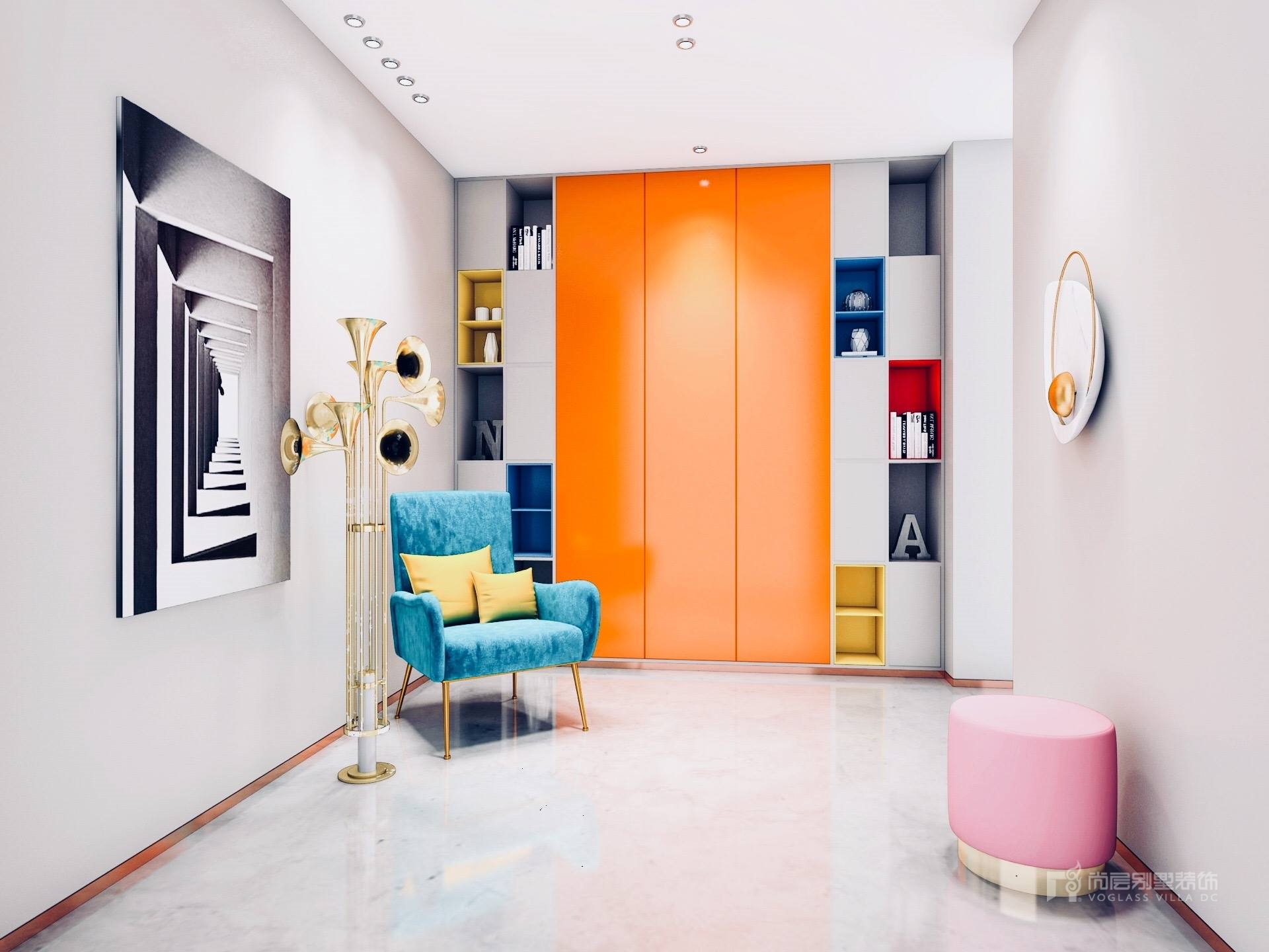 520平米现代新奢风格别墅装修_罗文老师获奖作品