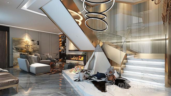 200多平米现代风格别墅装修设计