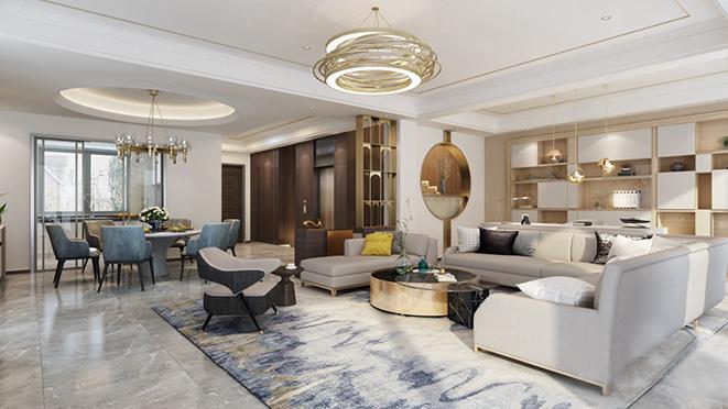 800平方米新奢风格别墅装修设计