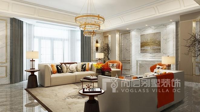 1300㎡新奢风格别墅装修设计案例