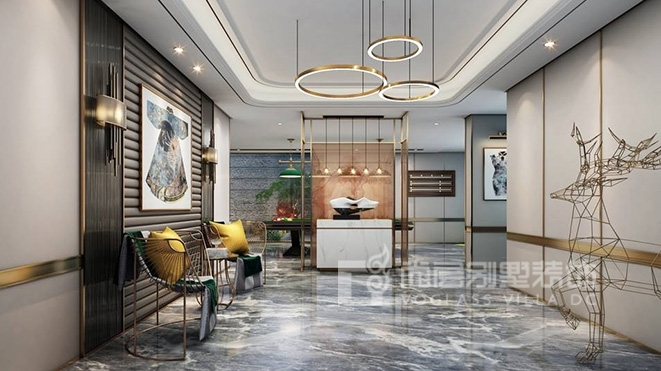 900㎡现代新奢风格别墅装修设计案例