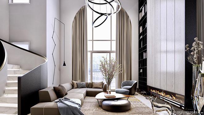 400平米轻奢风格别墅装修设计案例