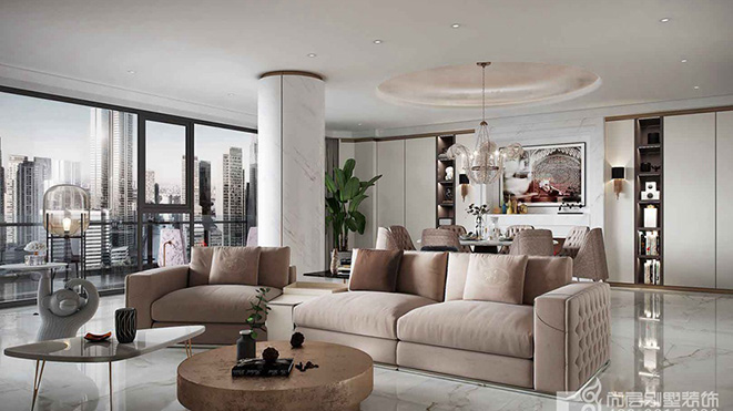 430平米轻奢风格别墅装修设计案例