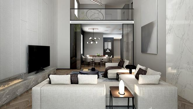 800平方米轻奢风格别墅装修设计案例
