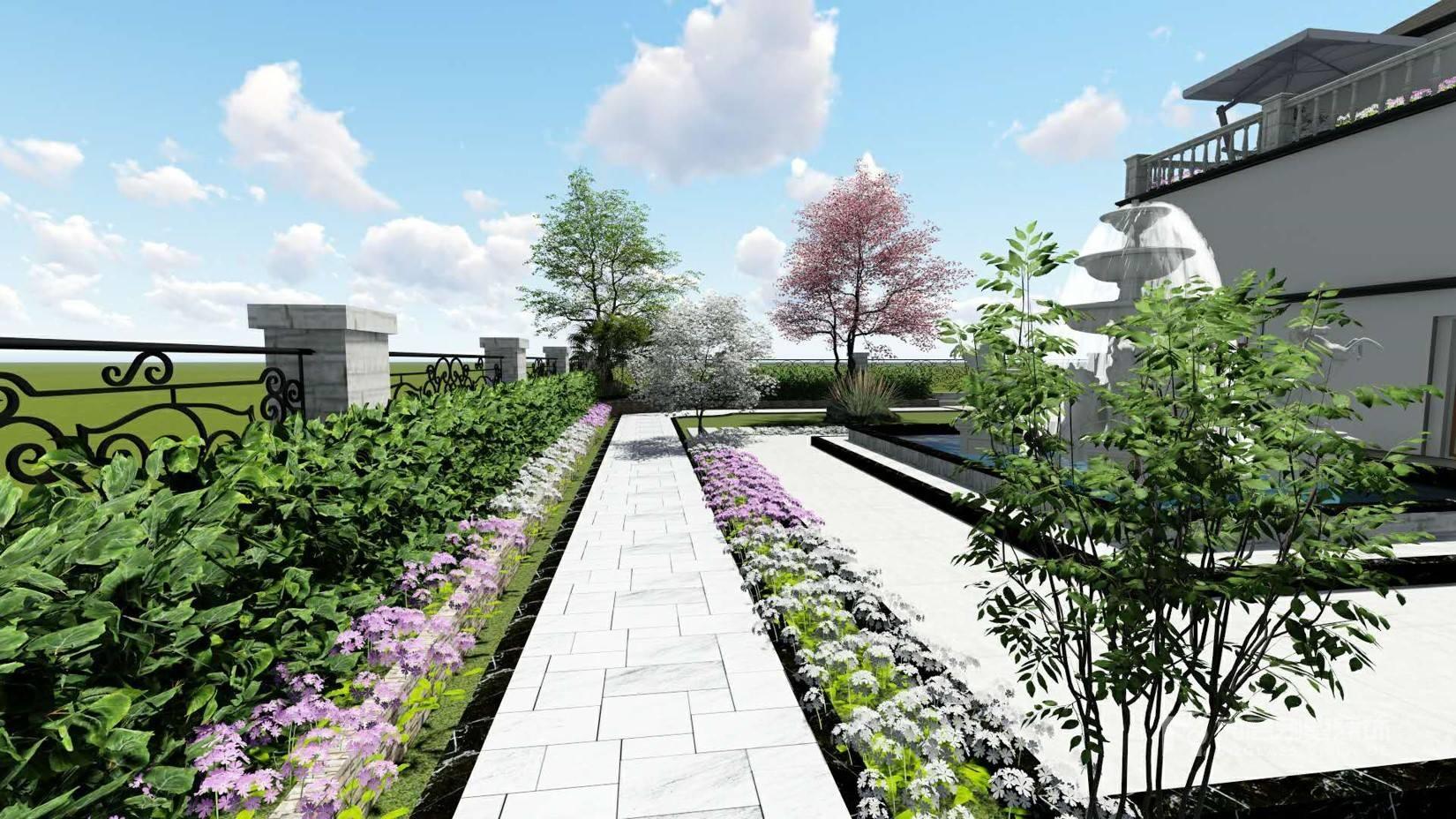 865㎡新中式风格别墅装修效果图-广州花都南航碧华园
