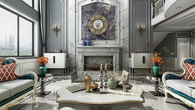 法式风格别墅装修设计案例——汇景新城