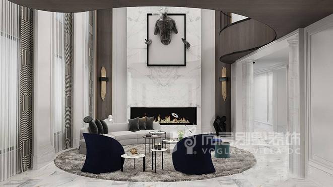 880平米轻奢风格别墅装修设计案例