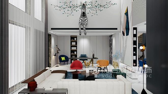 500㎡现代轻奢风格别墅装修设计案例-硅谷别墅