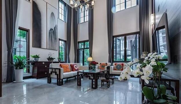 新中式别墅装修效果图 简朴优美格调高雅