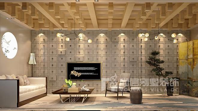 500㎡现代新中式风格别墅装修设计案例——远洋天著