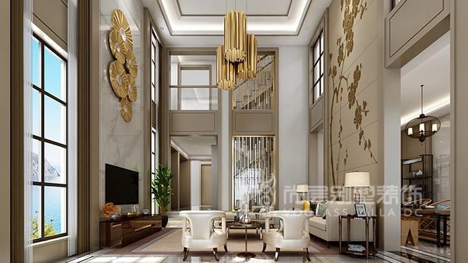 720㎡现代简约风格别墅装修设计案例——观澜高尔夫别墅